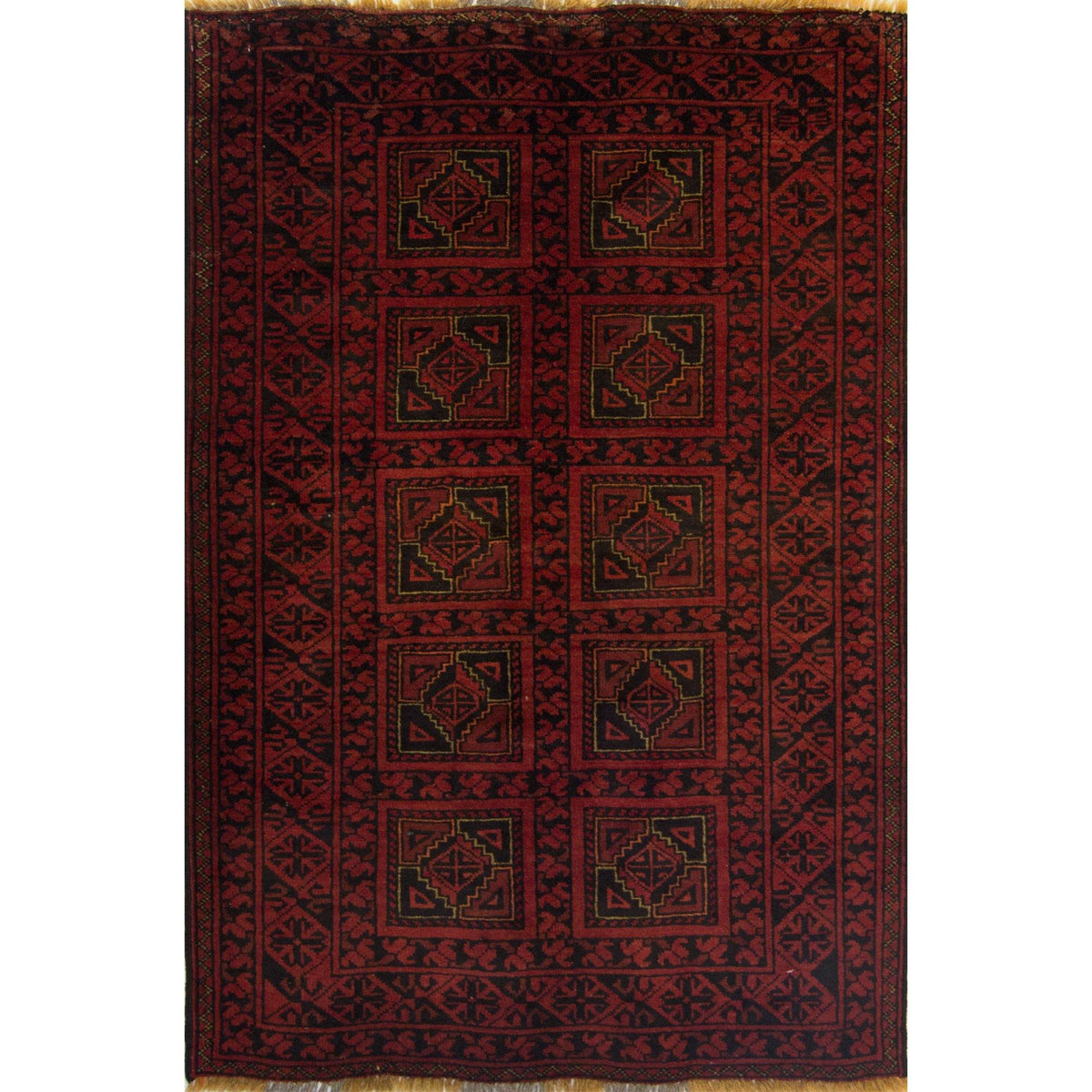 Fine Hand-knotted 100% Wool Afghani Turkmen Rug 103cm x 161cm Persian-Rug | House-of-Haghi | NewMarket | Auckland | NZ | Handmade Persian Rugs | Hand Knotted Persian Rugs