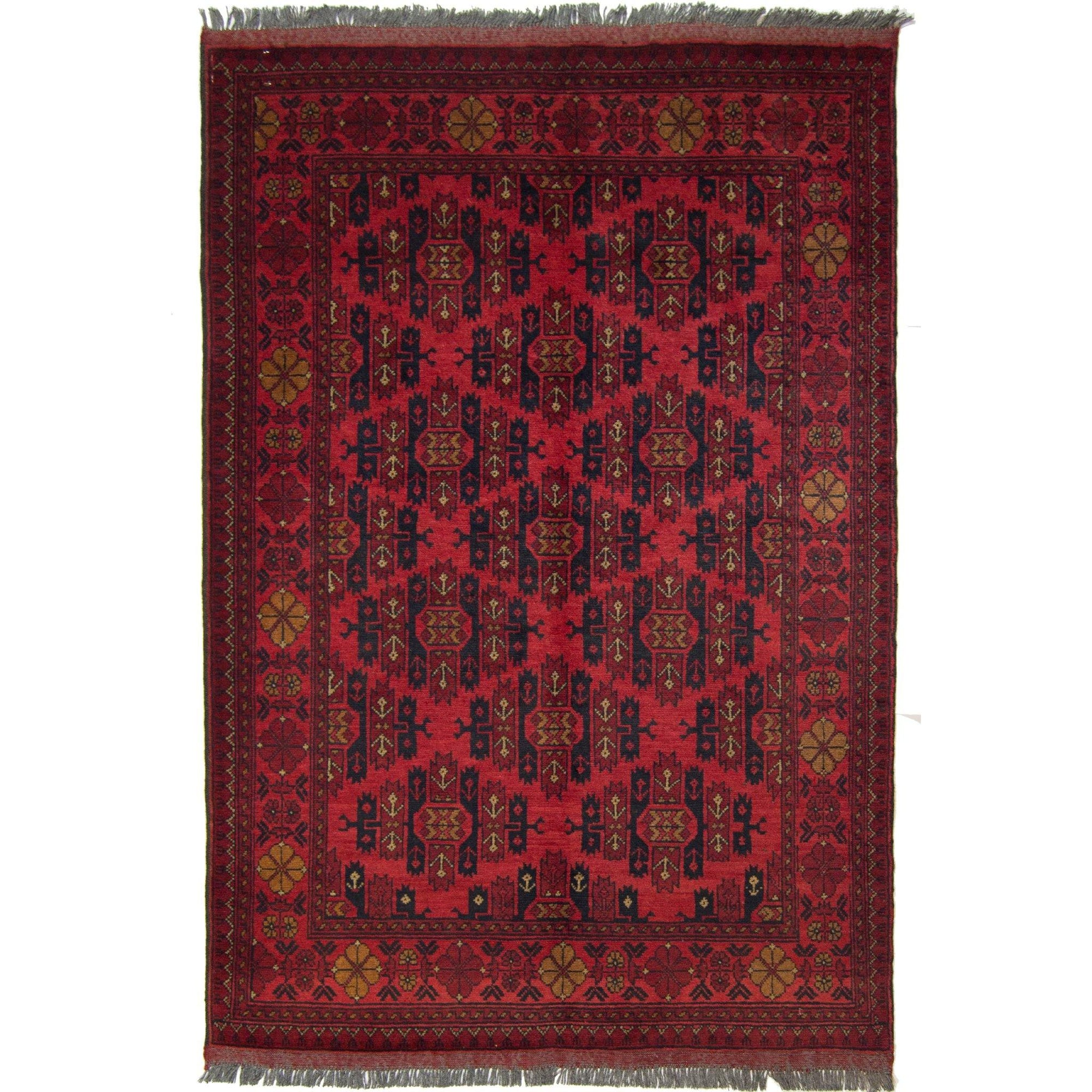 Afghan 100% Wool Hand-knotted Tribal Khal Mohammadi Rug 102cm x 148cm Persian-Rug | House-of-Haghi | NewMarket | Auckland | NZ | Handmade Persian Rugs | Hand Knotted Persian Rugs