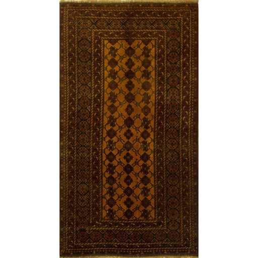 1 x 2 Meter_Persian_Turkmen_handknotted_Rug