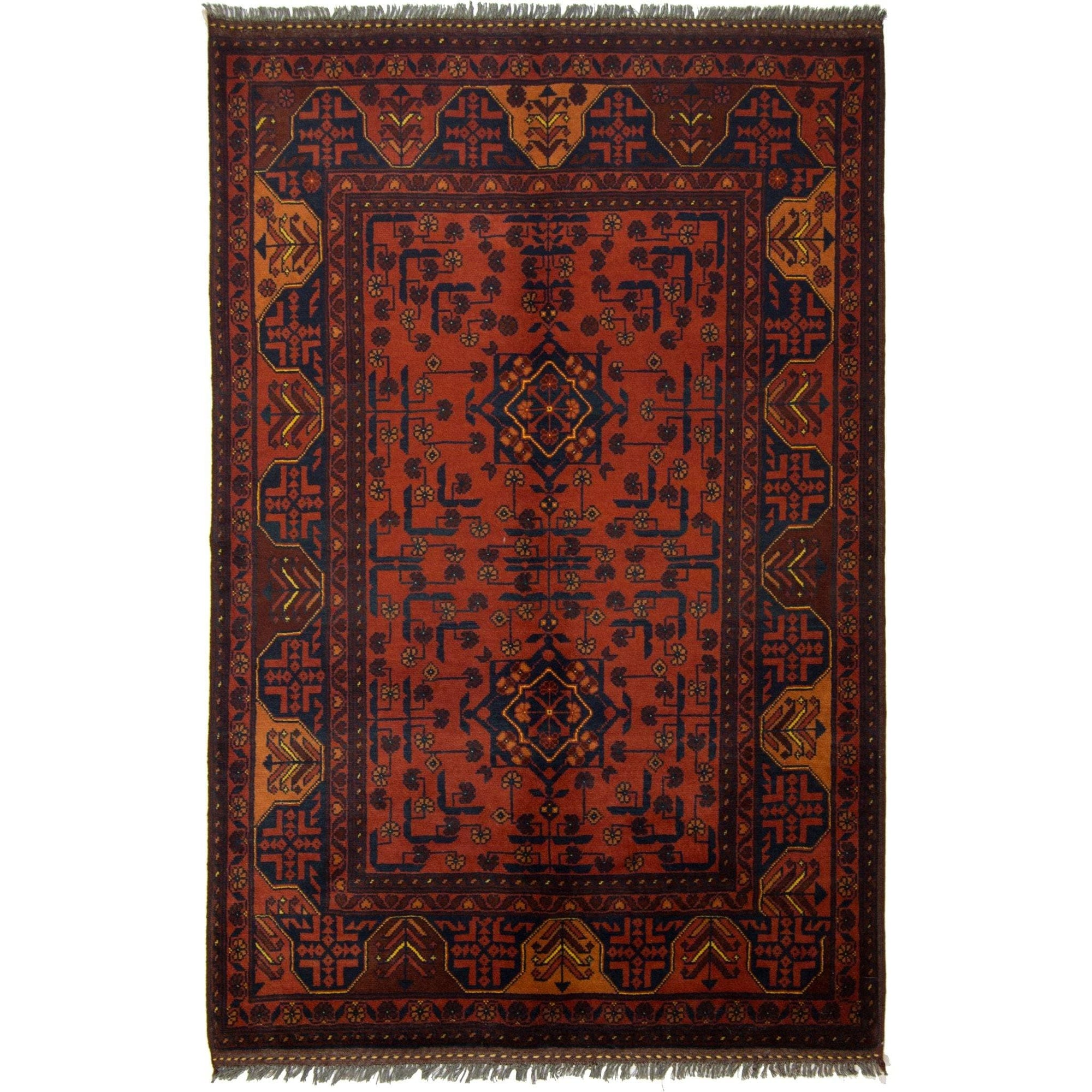 Fine Hand-knotted Wool Afghan Turkmen Rug 101cm x 153cm Persian-Rug | House-of-Haghi | NewMarket | Auckland | NZ | Handmade Persian Rugs | Hand Knotted Persian Rugs
