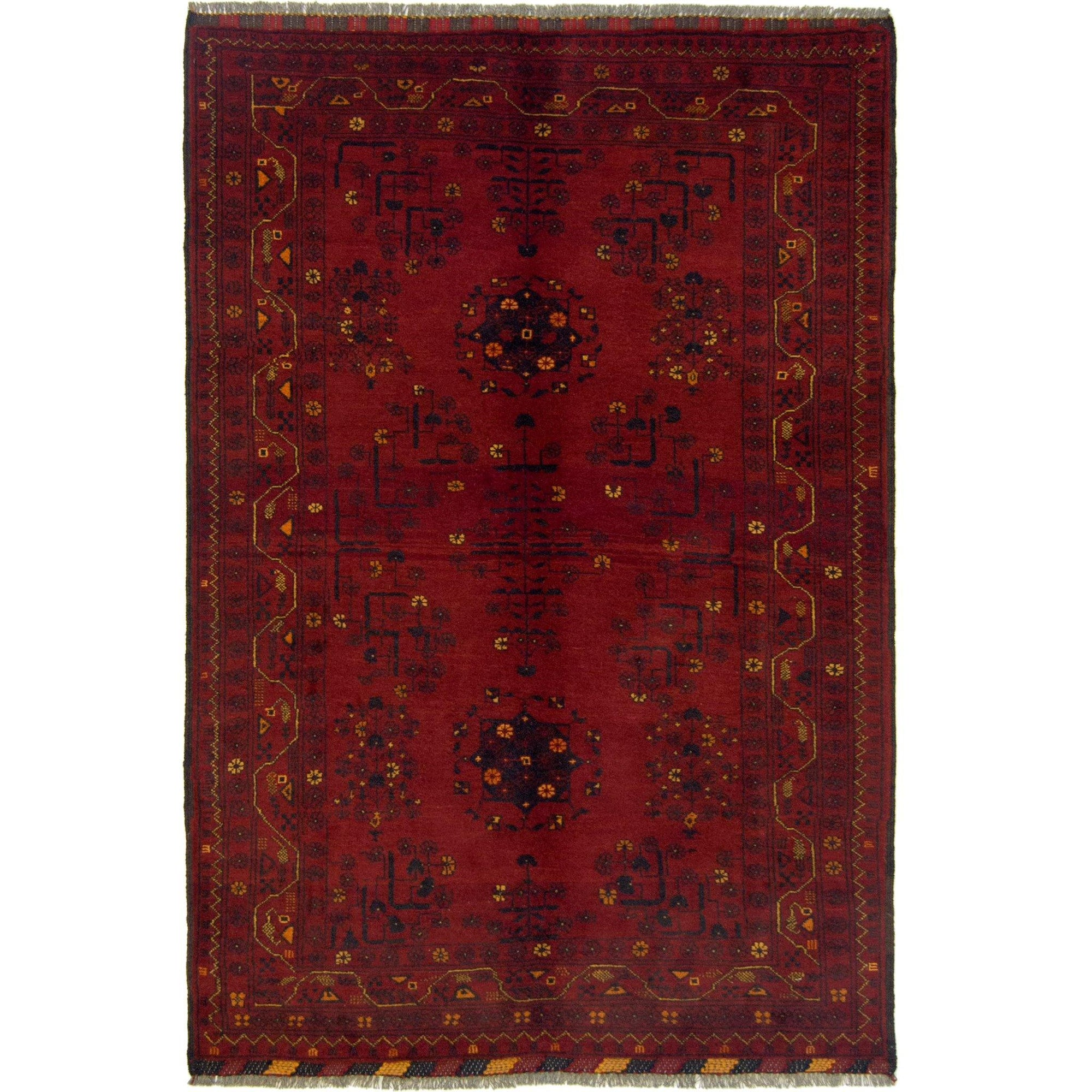 Fine Hand-knotted Wool Afghan Turkmen Rug 98cm x 144cm Persian-Rug | House-of-Haghi | NewMarket | Auckland | NZ | Handmade Persian Rugs | Hand Knotted Persian Rugs