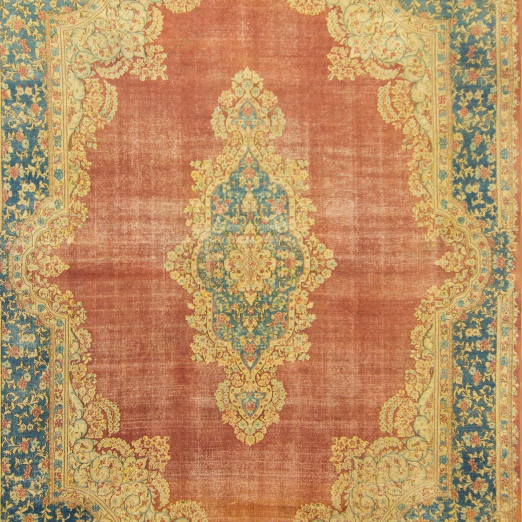 Beautiful Antique Hand-knotted Persian Kerman Rug 261cm x 385cm - House Of Haghi