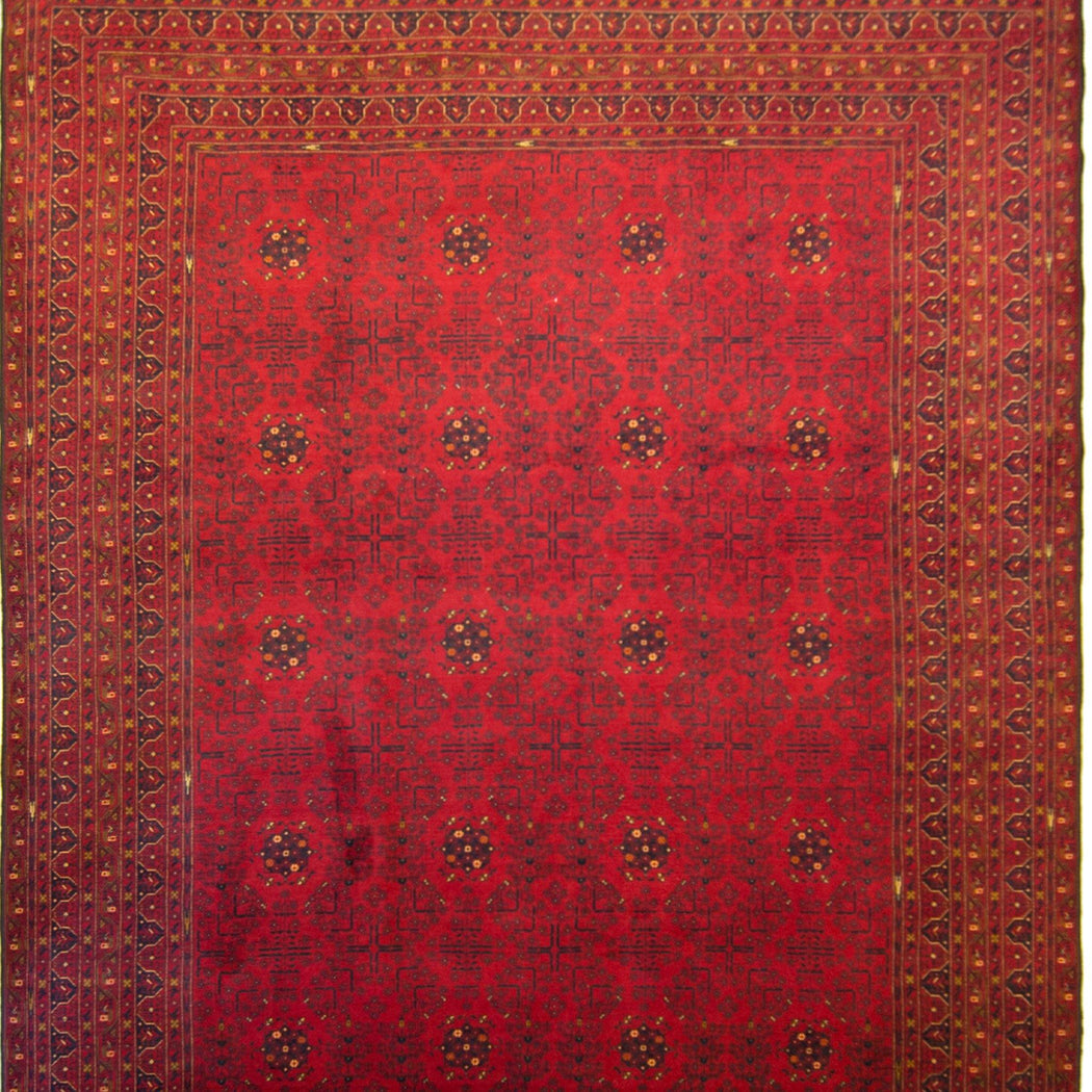 Fine Hand-knotted Wool Afghan Turkmen Rug 292cm x 475cm - House Of Haghi