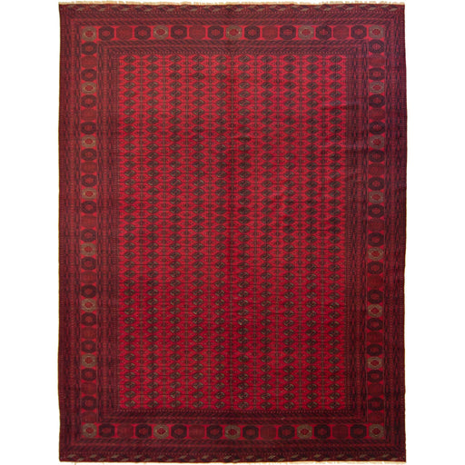 Fine Hand-knotted Wool Afghan Turkmen Rug 294cm x 385cm - House Of Haghi