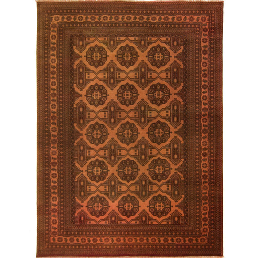 Fine Hand-knotted Wool Afghan Turkmen Rug 239cm x  334cm - House Of Haghi
