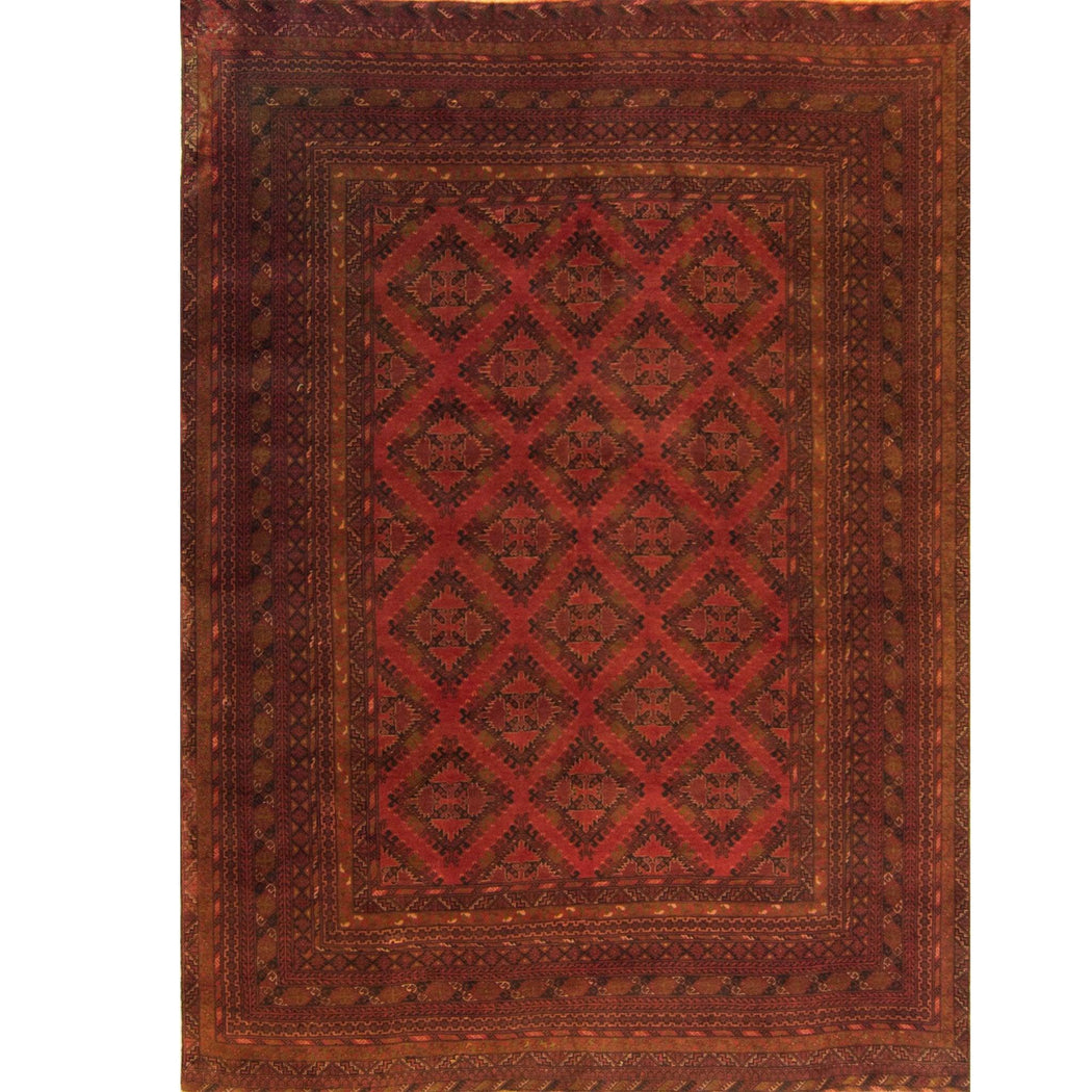 Super Fine Hand-knotted Afghan Wool Turkmen Rug - House Of Haghi
