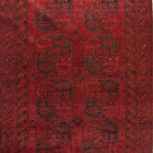 Fine Hand-knotted Wool Afghan Turkmen Rug 195cm x  278cm - House Of Haghi