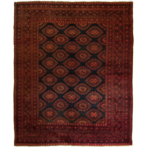 Fine Hand-knotted Wool Afghan Turkmen Rug 207 CM X 257 CM - House Of Haghi