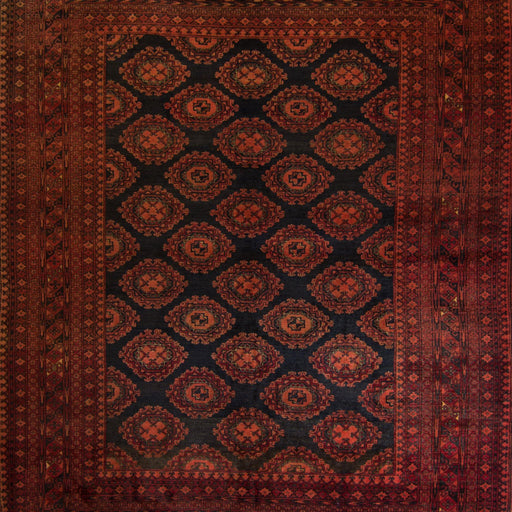 Fine Hand-knotted Wool Afghan Turkmen Rug 207cm x 257cm - House Of Haghi