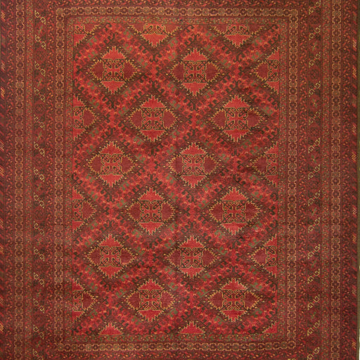 Fine Hand-knotted Wool Afghan Turkmen Rug 205 cm x  258 cm - House Of Haghi