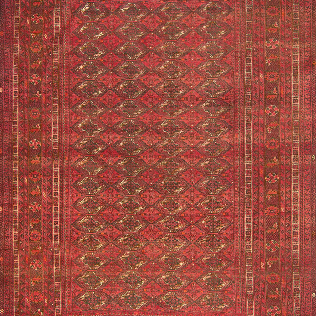 Fine Hand-knotted Wool Afghan Turkmen Rug 202cm x  291cm - House Of Haghi