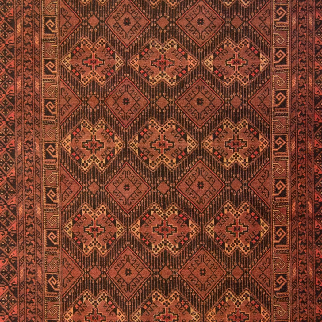 Fine Hand-knotted 100% Wool Afghani Turkmen Rug 193cm x  295cm - House Of Haghi