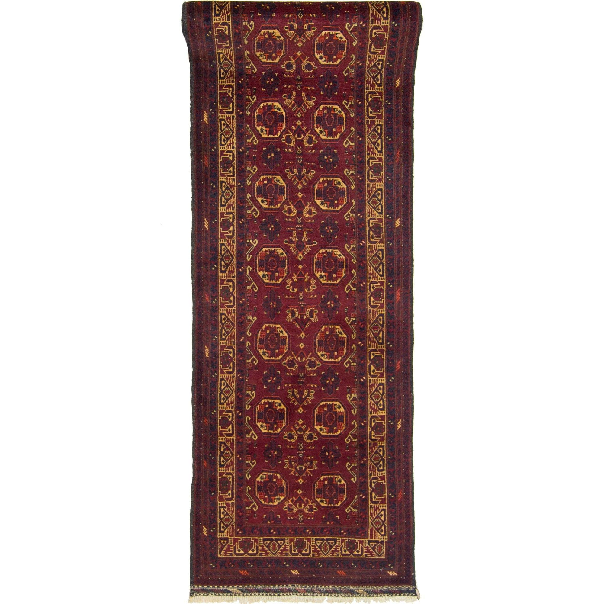 Fine Hand-knotted 100% Wool Afghani Turkmen Runner 82cm x 379cm Persian-Rug | House-of-Haghi | NewMarket | Auckland | NZ | Handmade Persian Rugs | Hand Knotted Persian Rugs