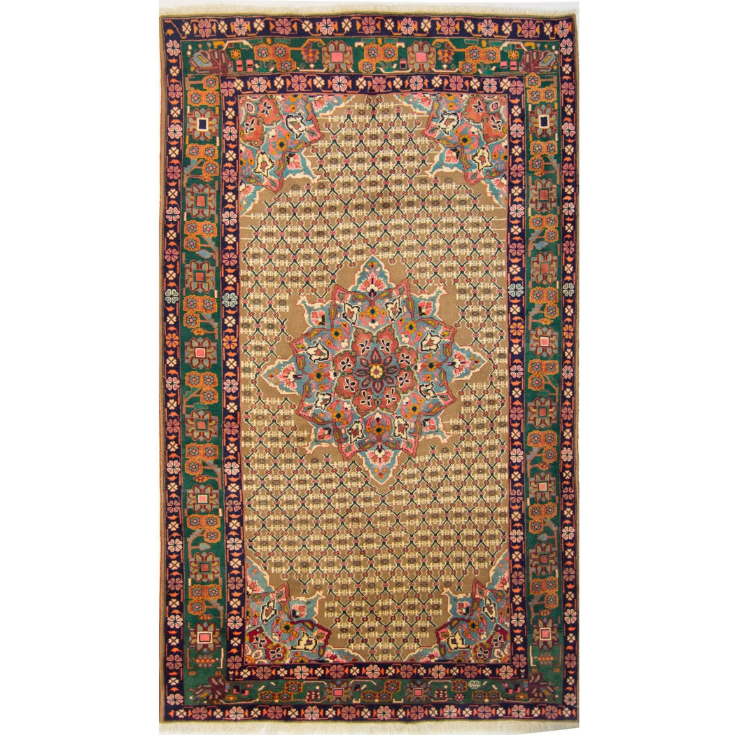 1.5 x 3 Meter_Persian_Fine Hand-knotted Persian Wool Bijar_handknotted_Rug