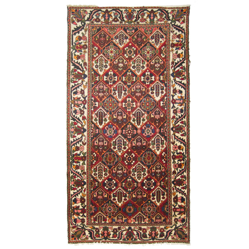 1.5 x 3 Meter_Persian_Vintage Hand-knotted persian Wool Bakhtiari Rug_handknotted_Runner