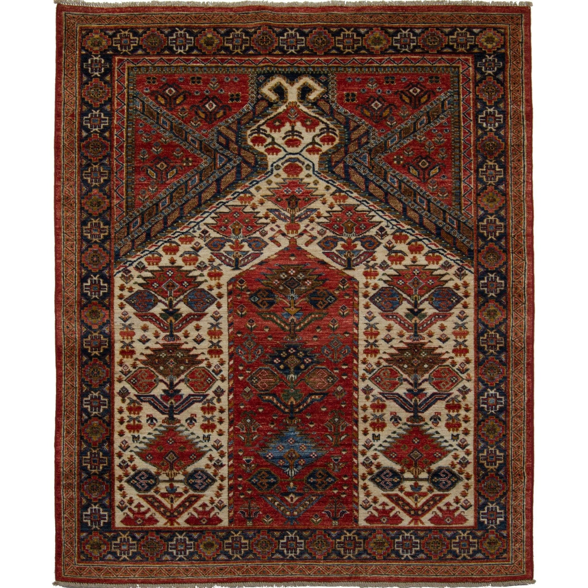 Fine Hand-knotted Tribal Wool Rug 150cm x 205cm Persian-Rug | House-of-Haghi | NewMarket | Auckland | NZ | Handmade Persian Rugs | Hand Knotted Persian Rugs