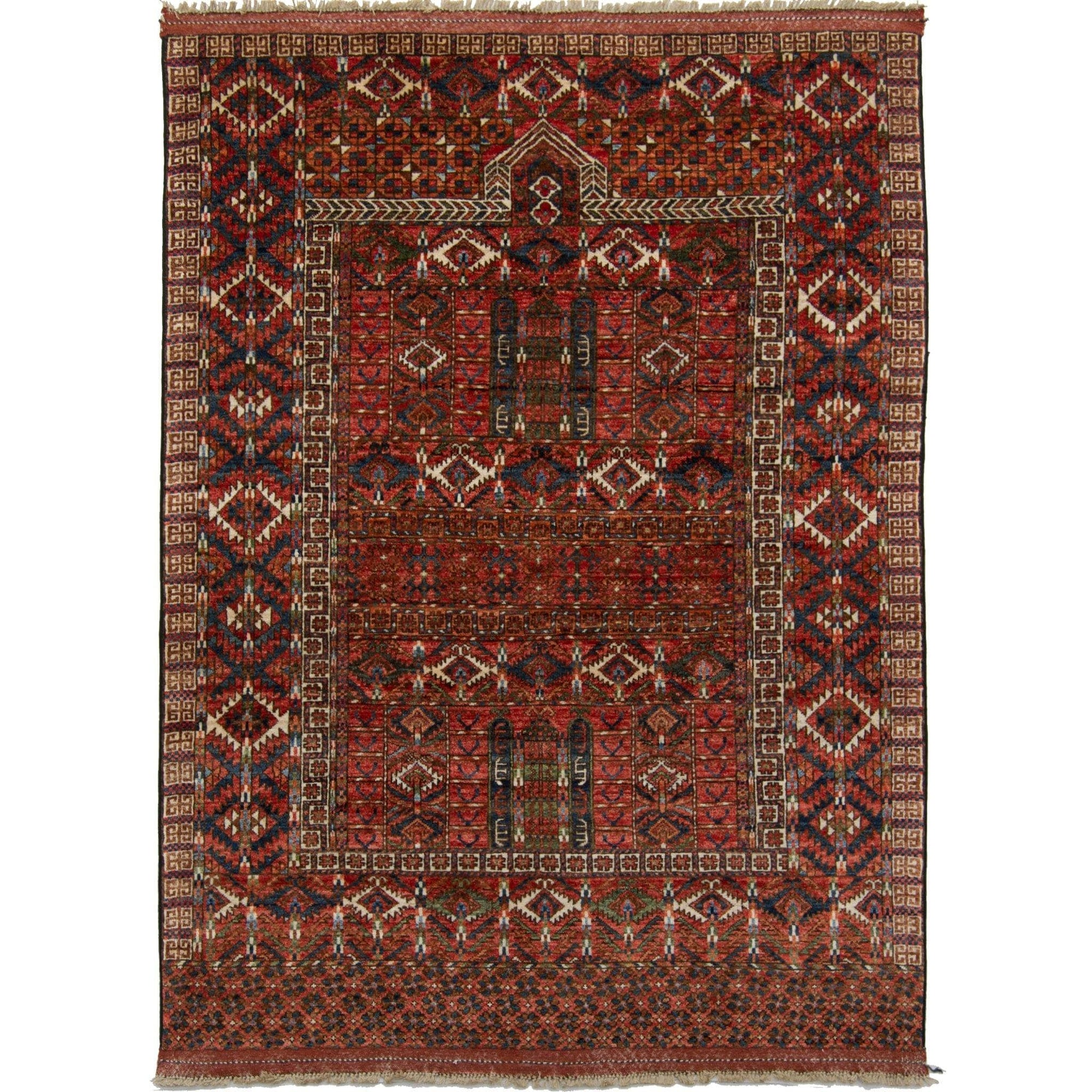 Fine Hand-knotted Tribal Wool Rug 154cm x 198cm Persian-Rug | House-of-Haghi | NewMarket | Auckland | NZ | Handmade Persian Rugs | Hand Knotted Persian Rugs