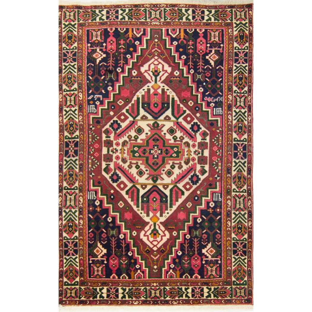 2 x 3 Meter_Persian_Beautiful Hand-knotted Wool Persian Bakhtiari Rug_handknotted_Rug