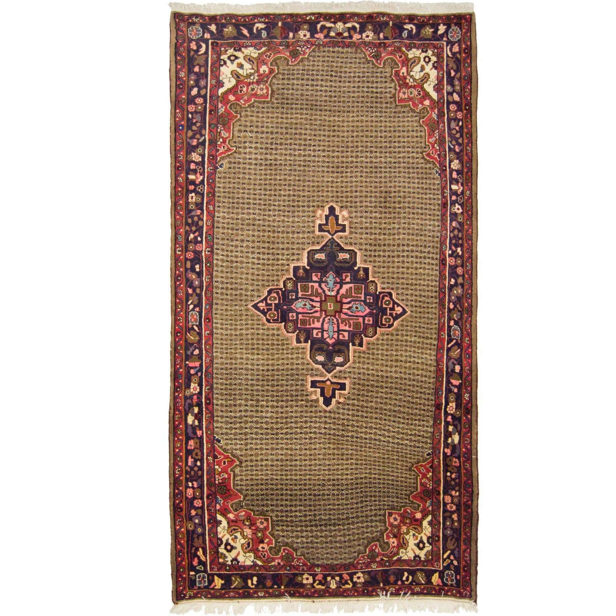 Vintage Hand-knotted Persian Wool Bijar Rug 145cm x 278cm Persian-Rug | House-of-Haghi | NewMarket | Auckland | NZ | Handmade Persian Rugs | Hand Knotted Persian Rugs