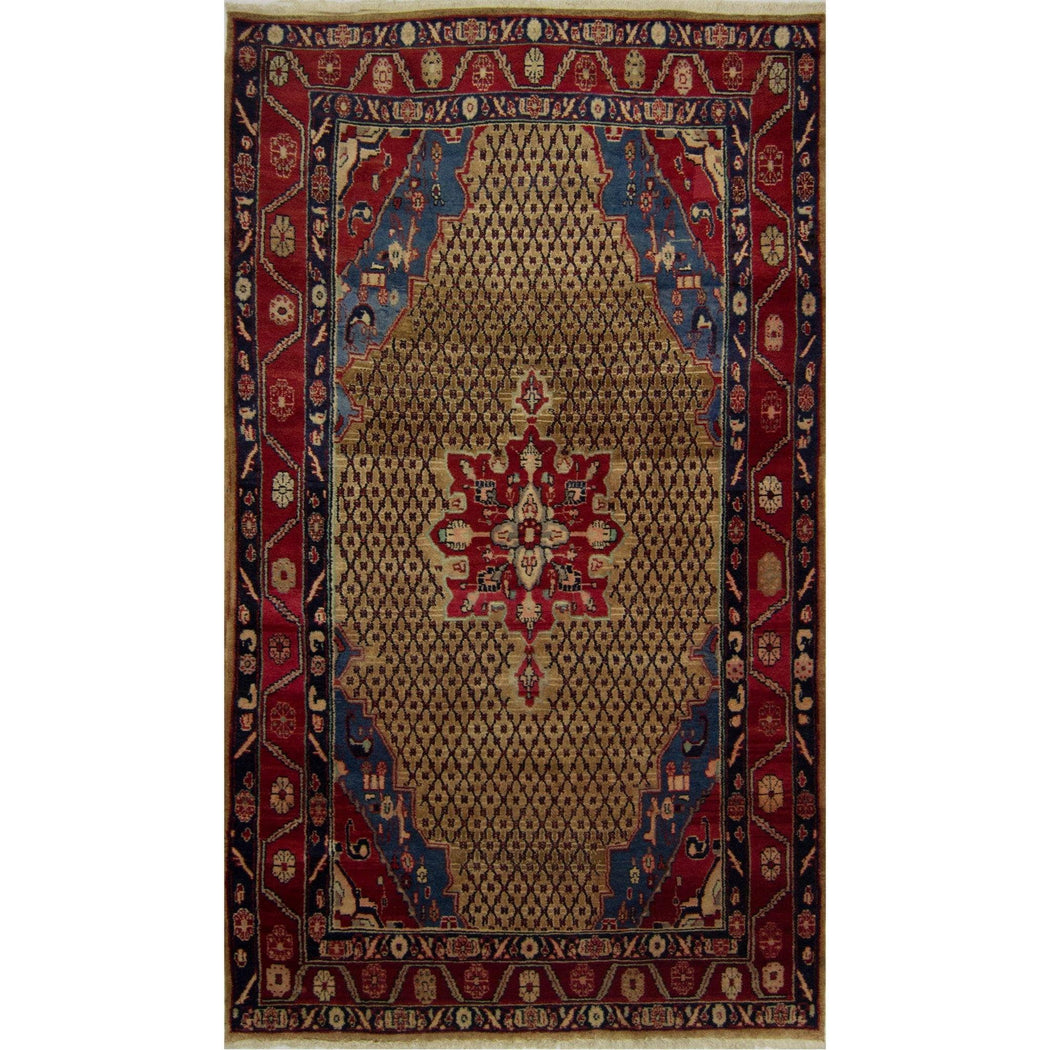 1.5 x 2.5 Meter_Persian_Fine Hand-knotted Persian Wool Bijar Rug_handknotted_Runner