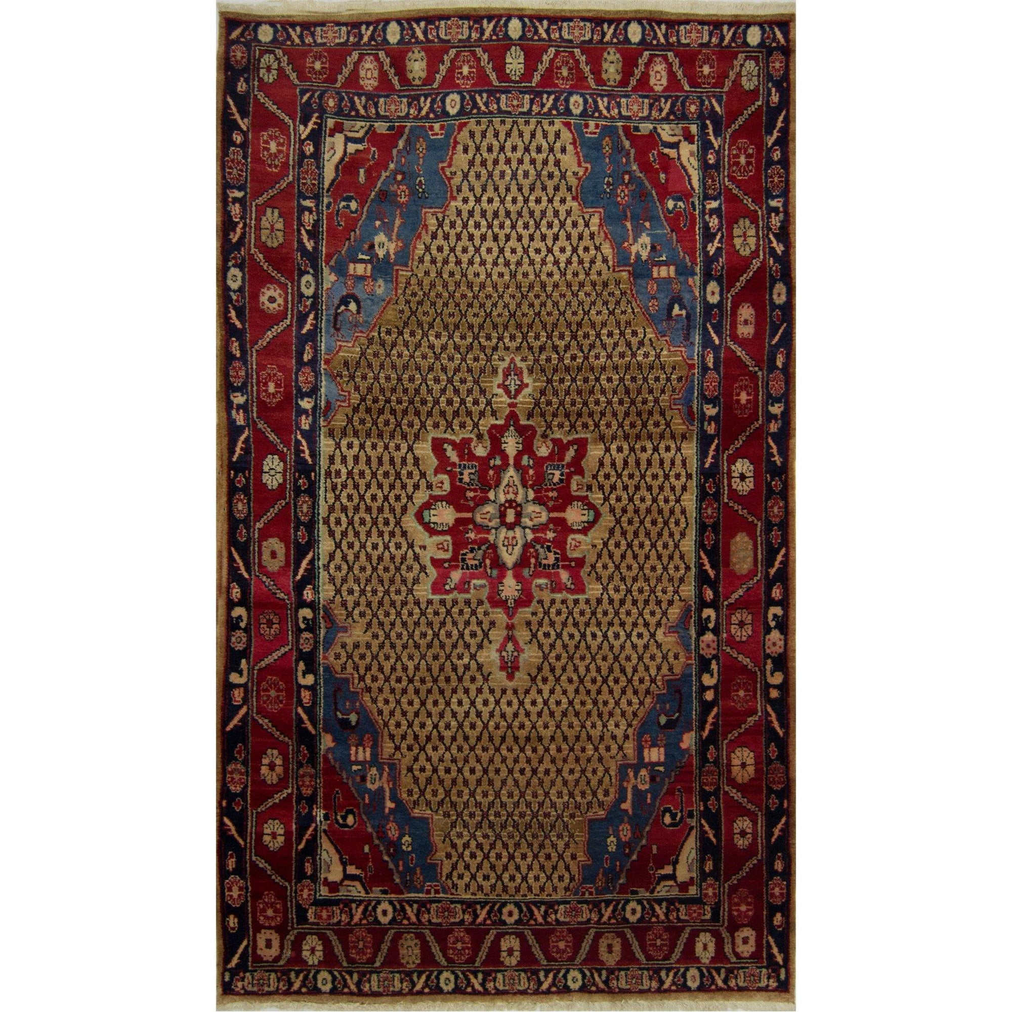 Tribal Hand-knotted Persian Wool Bijar Rug 150 cm x 270 cm Persian-Rug | House-of-Haghi | NewMarket | Auckland | NZ | Handmade Persian Rugs | Hand Knotted Persian Rugs