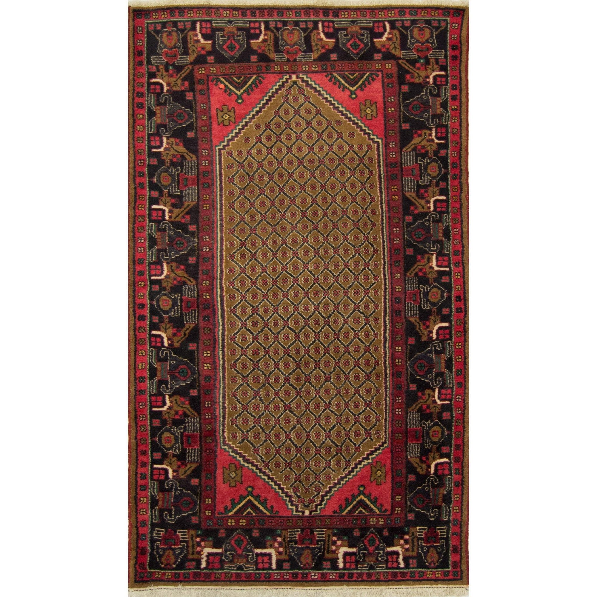 Hand-knotted Tribal Persian Wool Koliai Rug 123cm x 250cm Persian-Rug | House-of-Haghi | NewMarket | Auckland | NZ | Handmade Persian Rugs | Hand Knotted Persian Rugs