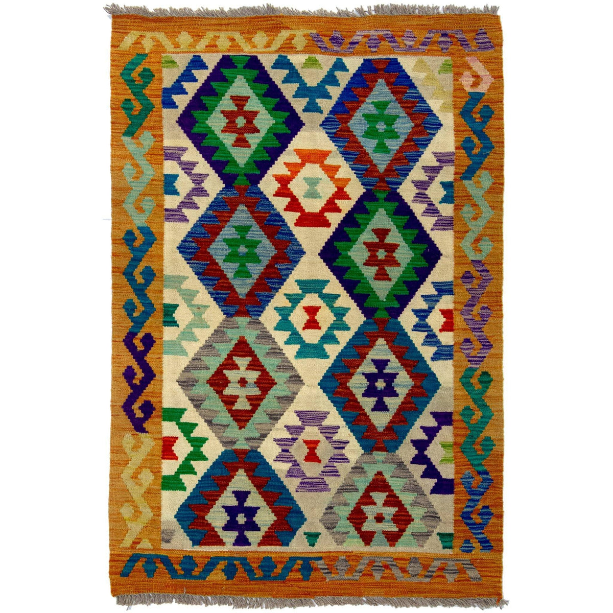 Hand-woven Afghan Chobi Kilim Rug 103cm x 151cm Persian-Rug | House-of-Haghi | NewMarket | Auckland | NZ | Handmade Persian Rugs | Hand Knotted Persian Rugs