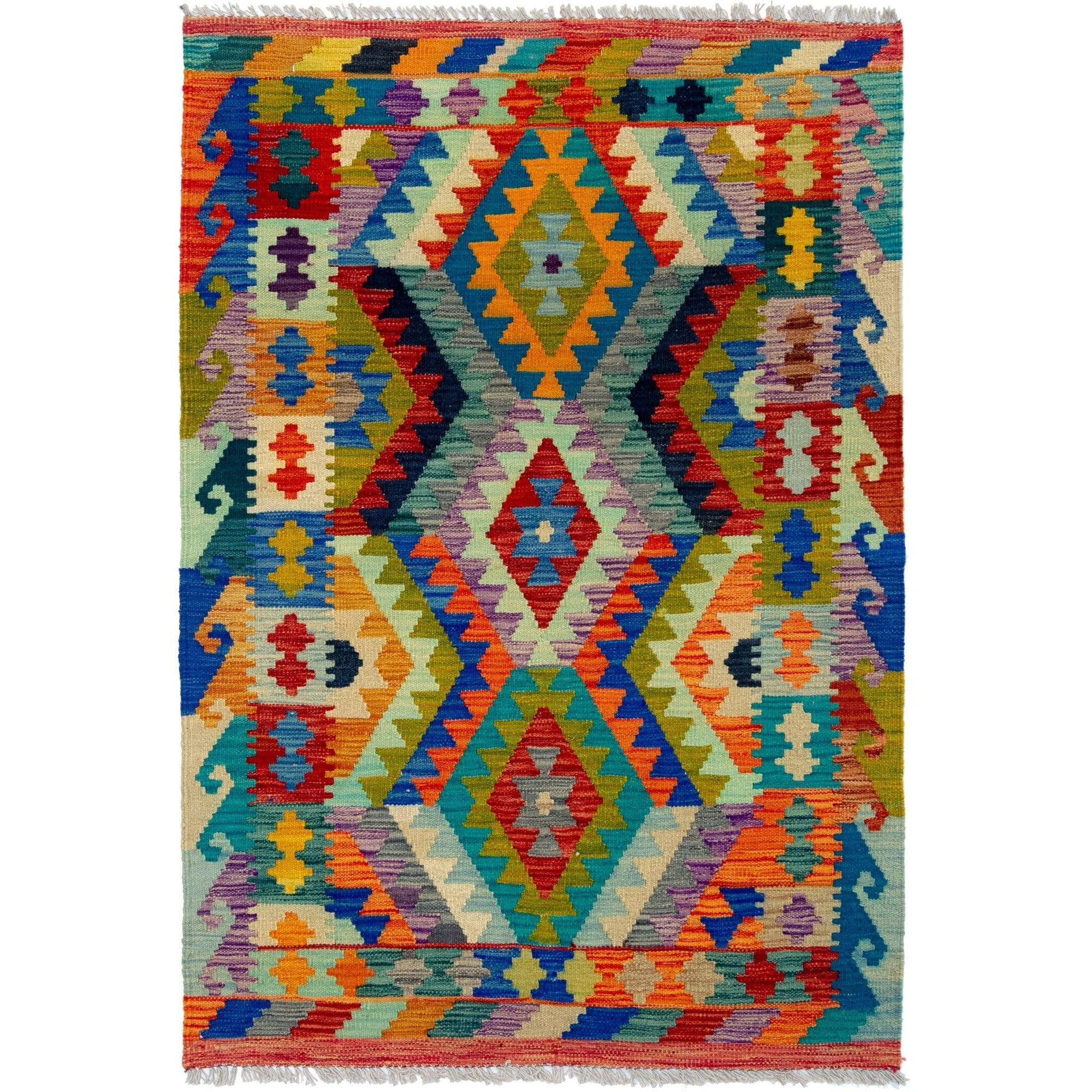 Hand-woven Afghan Chobi Kilim Rug 105cm x 149cm Persian-Rug | House-of-Haghi | NewMarket | Auckland | NZ | Handmade Persian Rugs | Hand Knotted Persian Rugs
