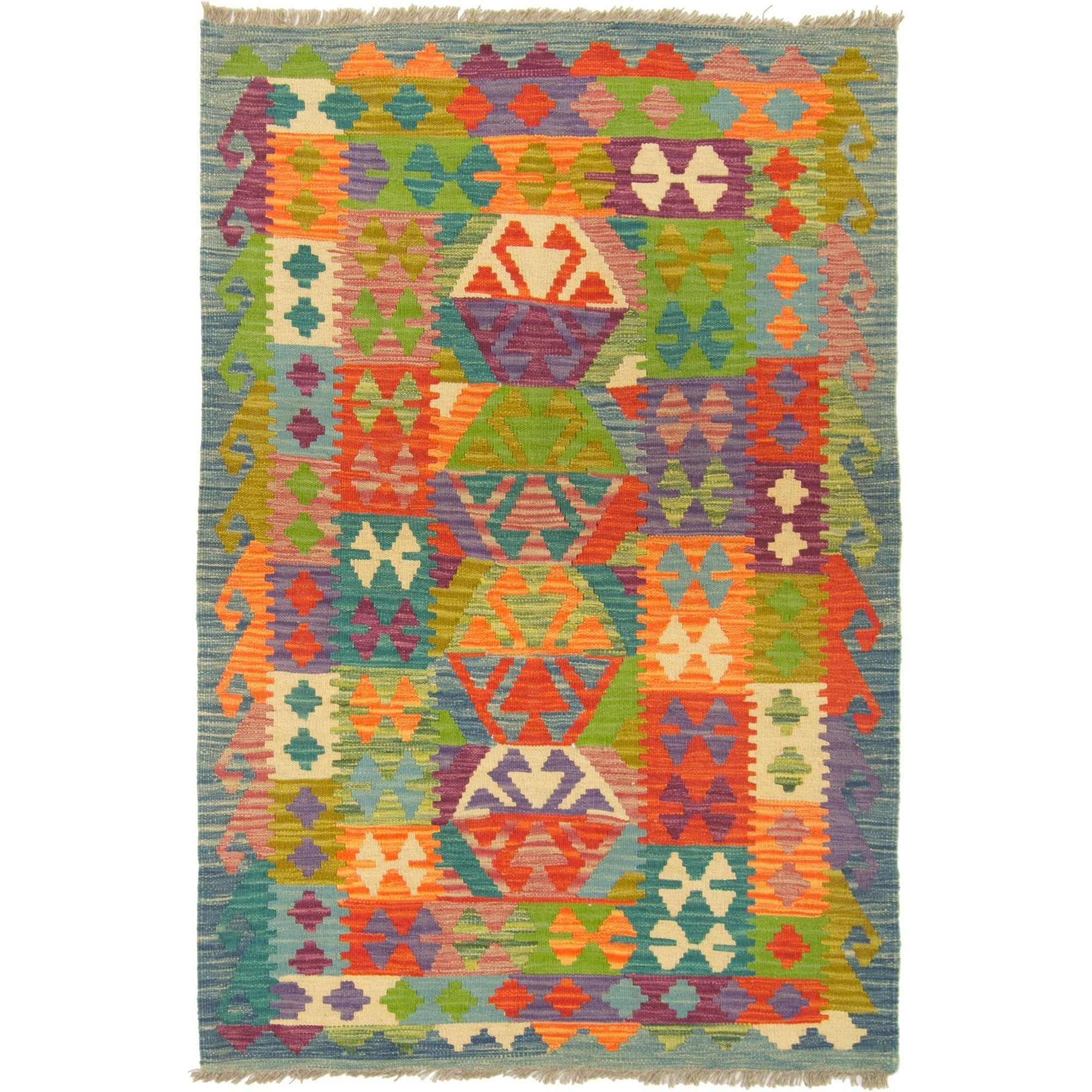 Hand-woven Afghan Chobi  Kilim Rug 101cm x 152cm Persian-Rug | House-of-Haghi | NewMarket | Auckland | NZ | Handmade Persian Rugs | Hand Knotted Persian Rugs