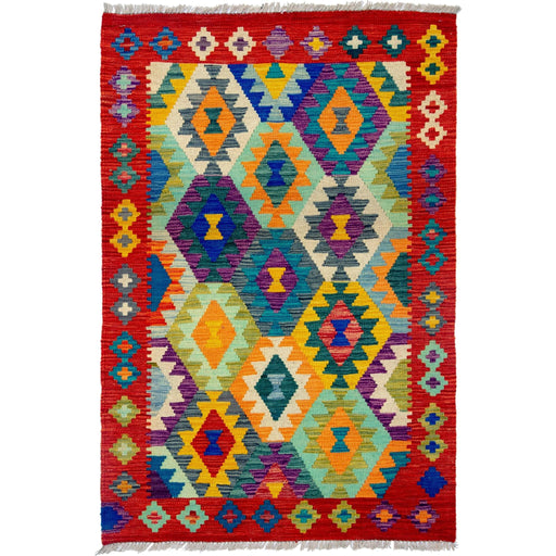 1 x 1.5 Meter_Persian_Hand-woven Afghan Choubi Kilim Rug_handknotted_Rug