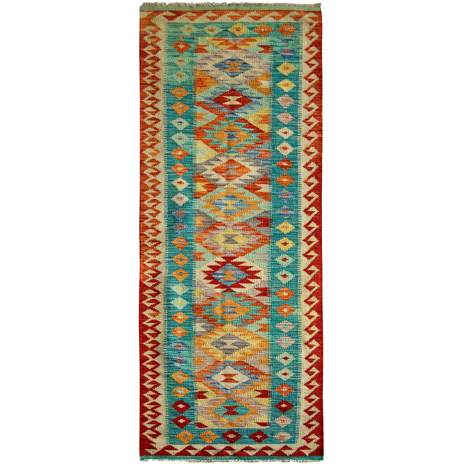 Hand-woven Wool Kilim Runner 81cm x 290cm Persian-Rug | House-of-Haghi | NewMarket | Auckland | NZ | Handmade Persian Rugs | Hand Knotted Persian Rugs