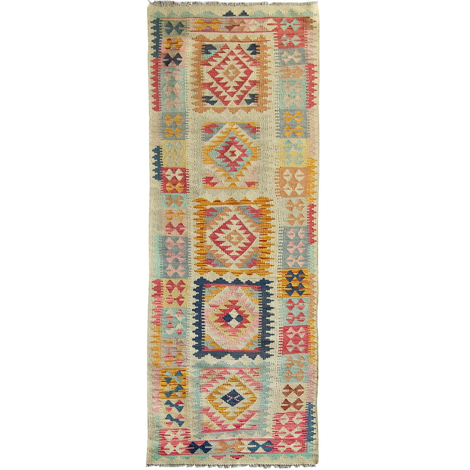 Hand-woven Wool Chobi Kilim Runner 81cm x 298cm Persian-Rug | House-of-Haghi | NewMarket | Auckland | NZ | Handmade Persian Rugs | Hand Knotted Persian Rugs