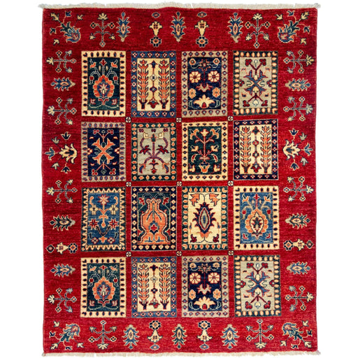 1 x 1 Meter_Persian_Hand-woven Afghan Choubi Kilim Rug_handknotted_Rug