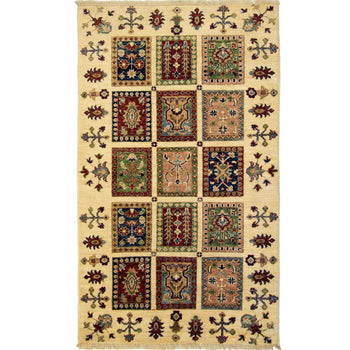 Beautiful Hand-knotted Wool Persian Bakhtiari Rug 89cm x 147cm - House Of Haghi