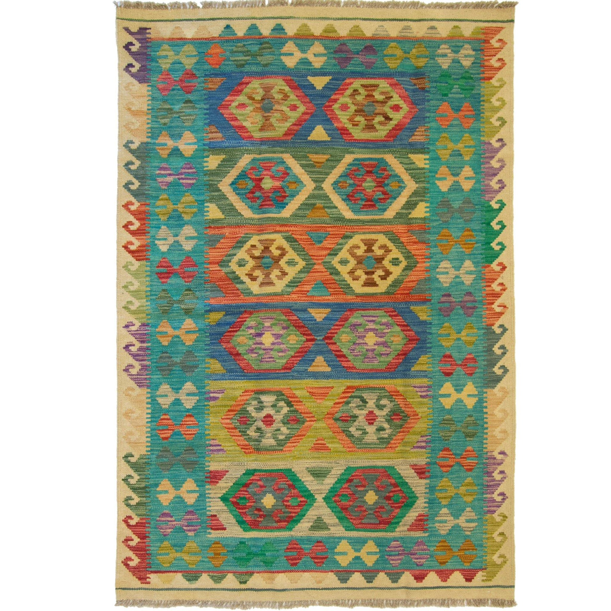 Hand-woven Afghan Chobi  Kilim Rug 124cm x 180cm Persian-Rug | House-of-Haghi | NewMarket | Auckland | NZ | Handmade Persian Rugs | Hand Knotted Persian Rugs
