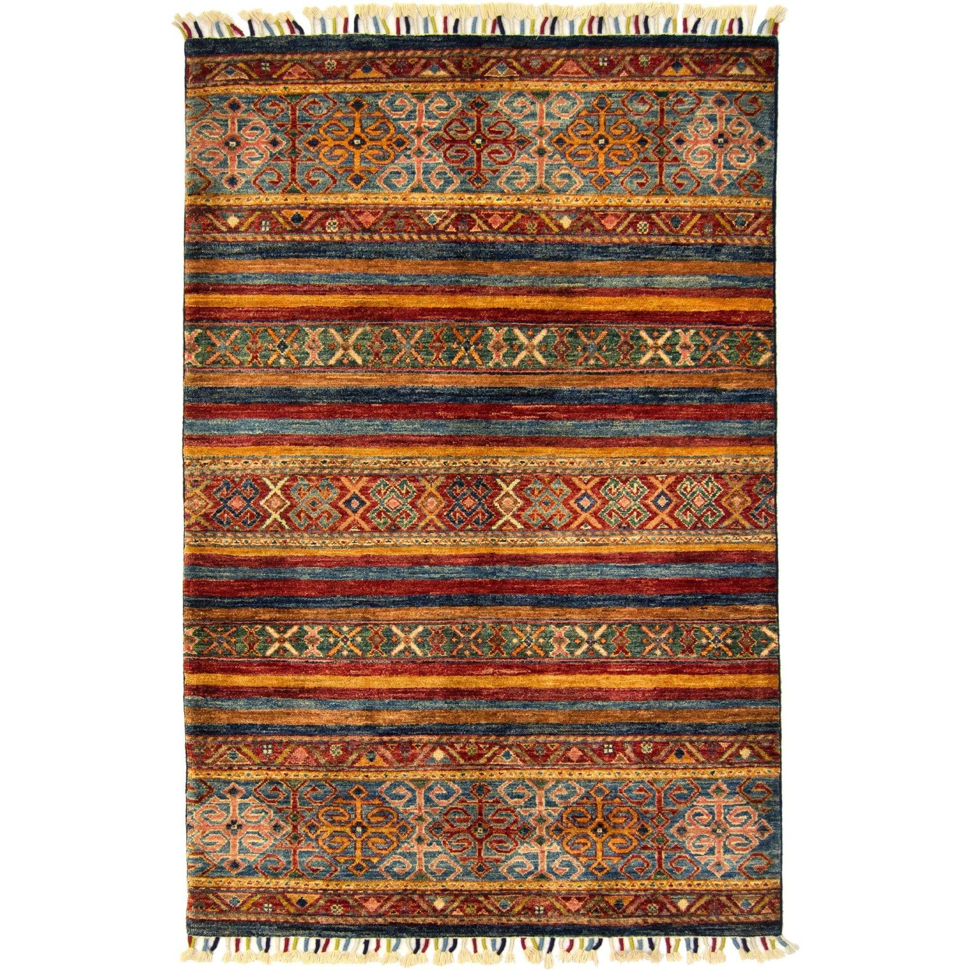 Hand-knotted Wool Tribal Khorjin Rug 103cm x 158cm Persian-Rug | House-of-Haghi | NewMarket | Auckland | NZ | Handmade Persian Rugs | Hand Knotted Persian Rugs