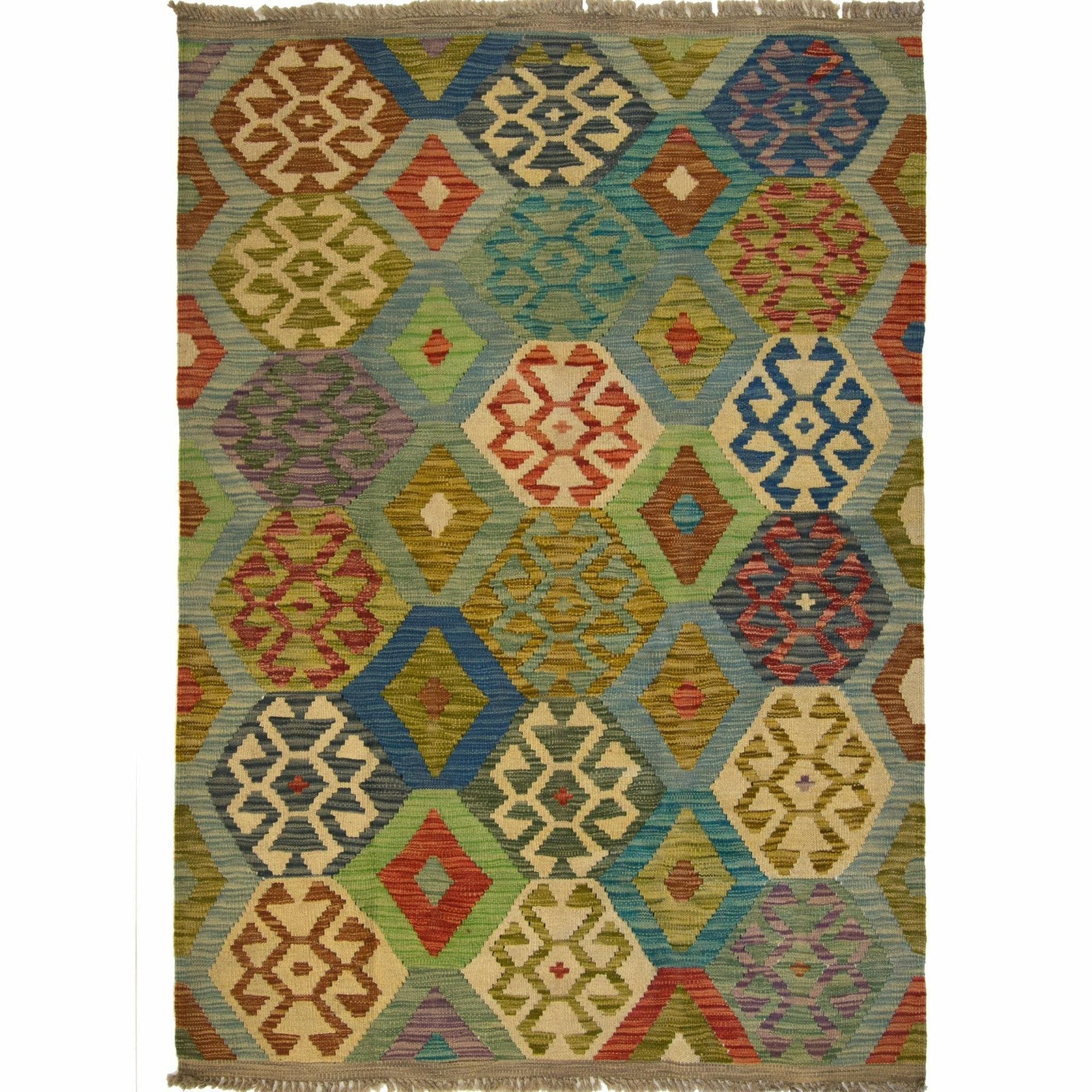 Hand-woven Afghan Chobi  Kilim Rug 127cm x 172cm Persian-Rug | House-of-Haghi | NewMarket | Auckland | NZ | Handmade Persian Rugs | Hand Knotted Persian Rugs