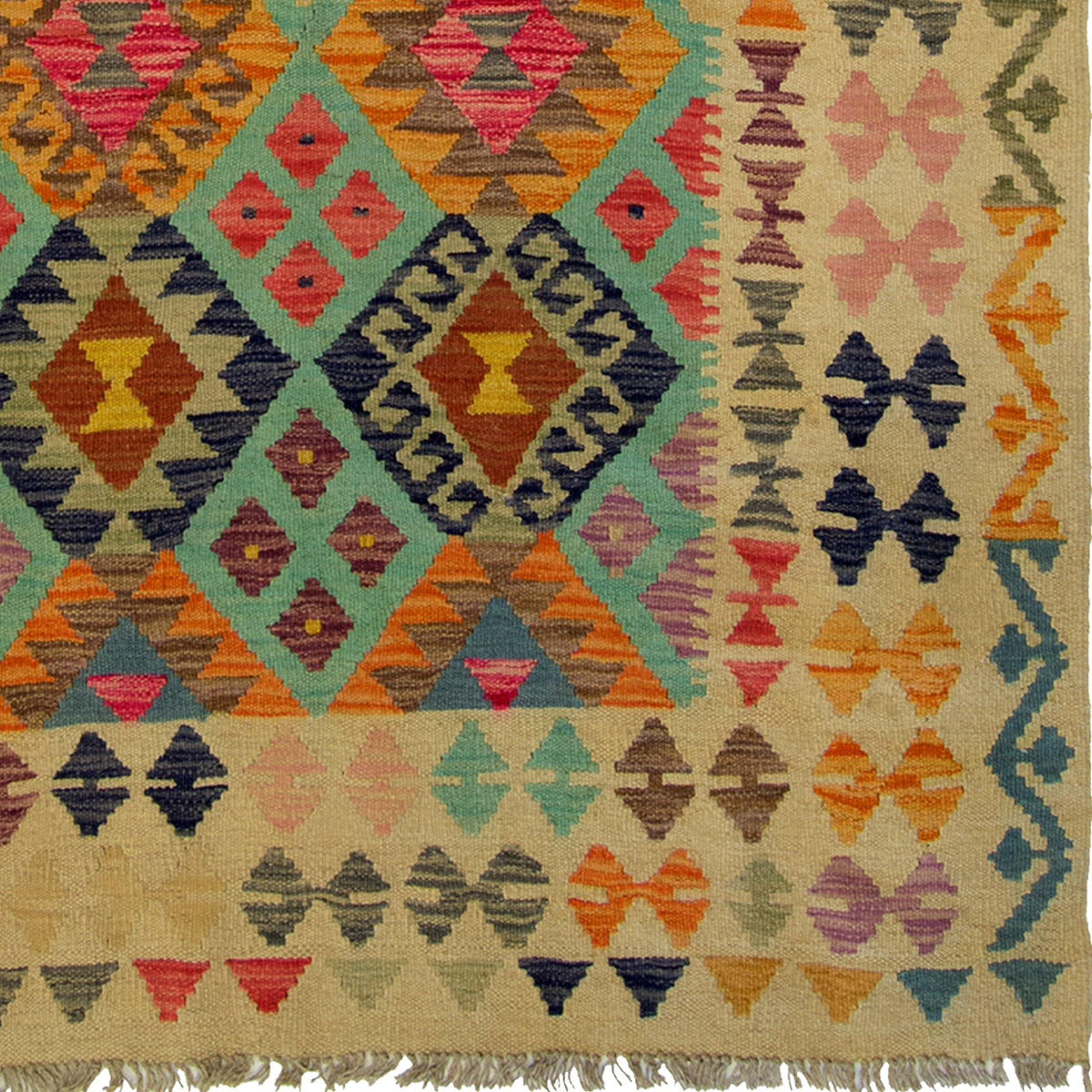 Hand-woven Afghan Chobi  Kilim Rug 122cm x 182cm Persian-Rug | House-of-Haghi | NewMarket | Auckland | NZ | Handmade Persian Rugs | Hand Knotted Persian Rugs