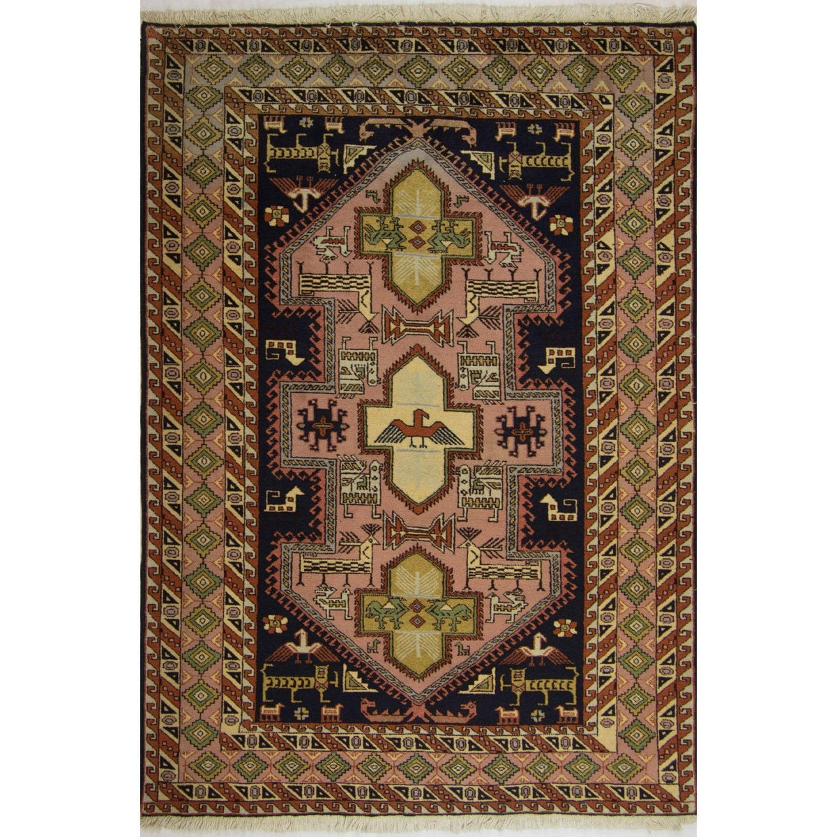 Fine Hand-knotted Wool Persian Ardabil Rug 135cm x 190cm Persian-Rug | House-of-Haghi | NewMarket | Auckland | NZ | Handmade Persian Rugs | Hand Knotted Persian Rugs