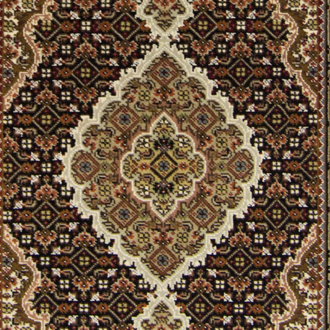 Fine Hand-knotted Wool and Silk  Tabriz - Mahi Rug 81cm x 120cm - House Of Haghi