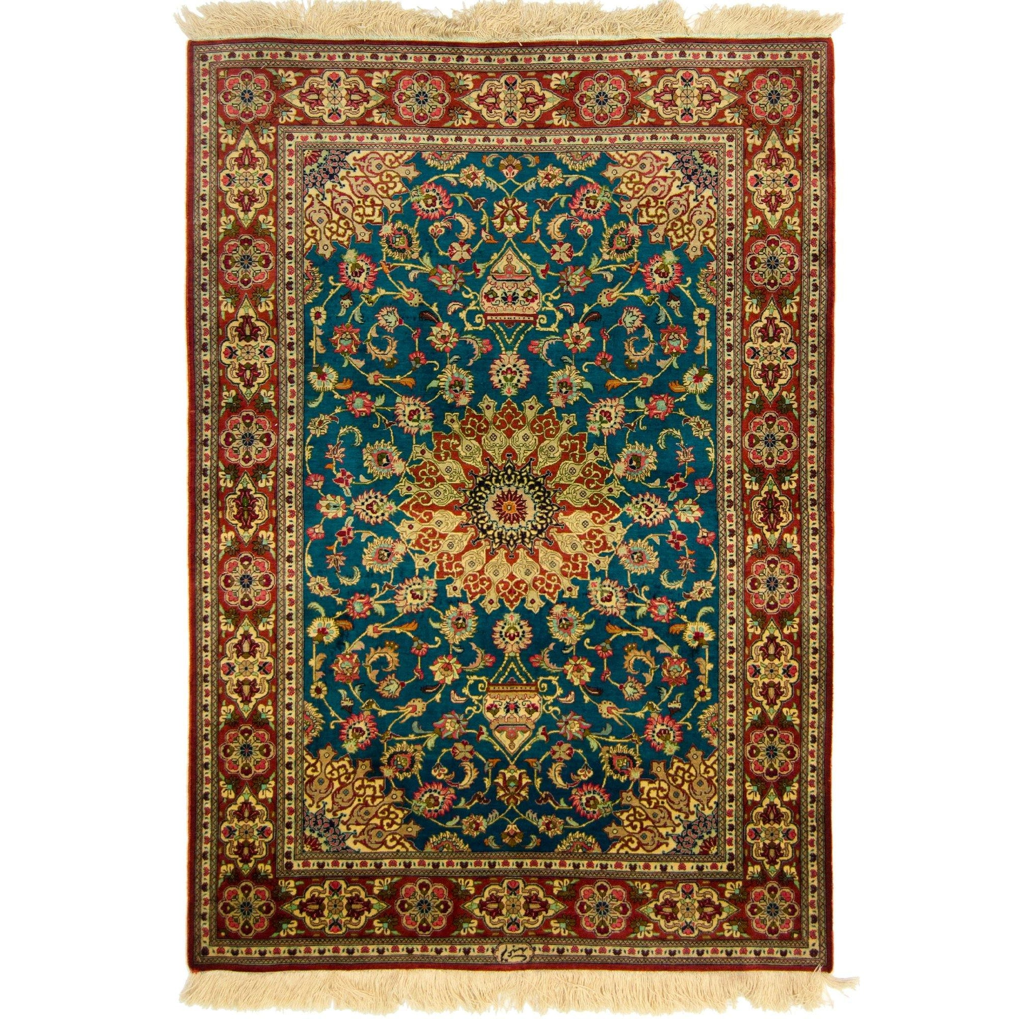 Fine Hand-knotted Persian Qhom (Qum) Silk Rug ( SIGNED) Persian-Rug | House-of-Haghi | NewMarket | Auckland | NZ | Handmade Persian Rugs | Hand Knotted Persian Rugs