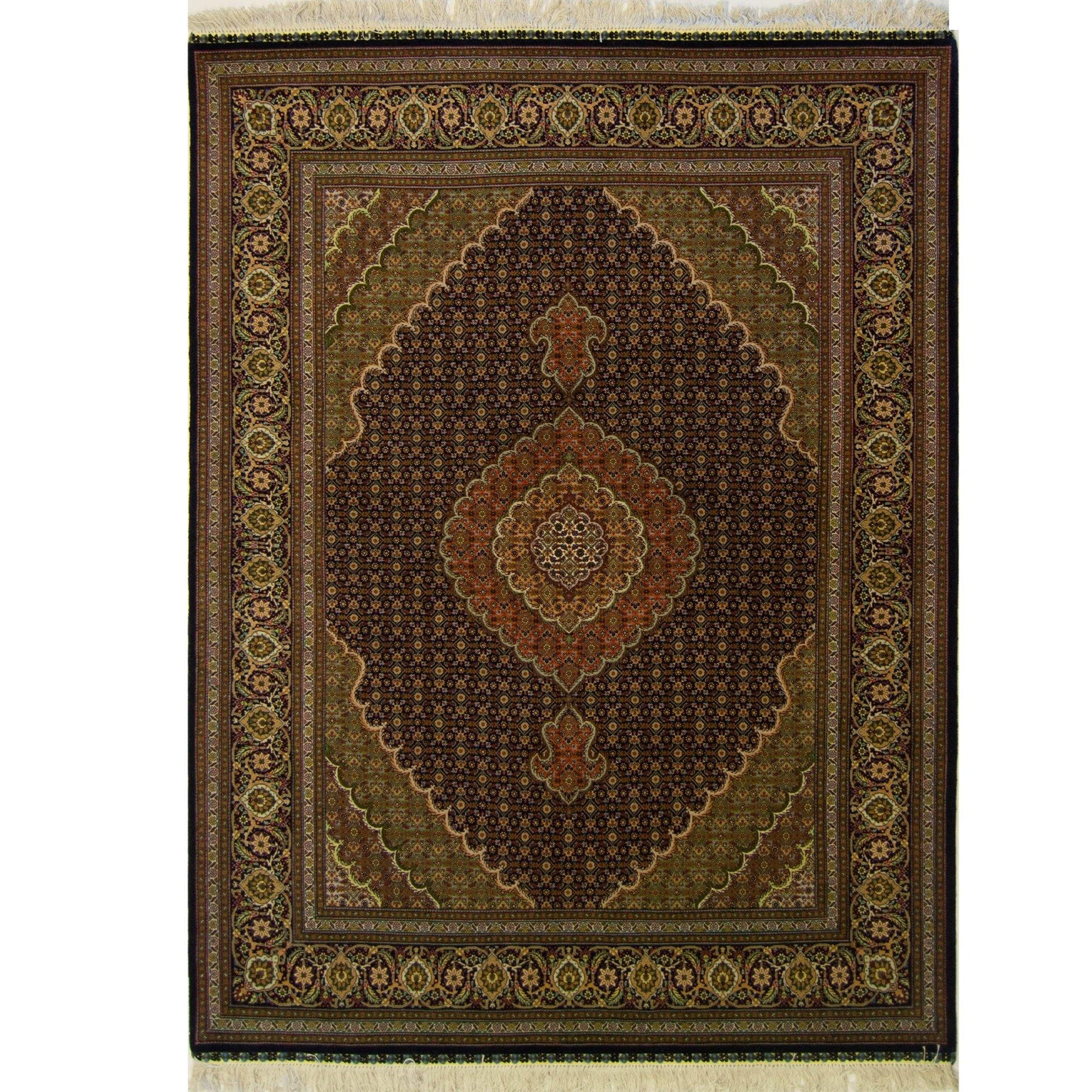 Super Fine Hand-knotted Wool and Silk Tabriz - Mahi Rug 153 cm x 206 cm Persian-Rug | House-of-Haghi | NewMarket | Auckland | NZ | Handmade Persian Rugs | Hand Knotted Persian Rugs