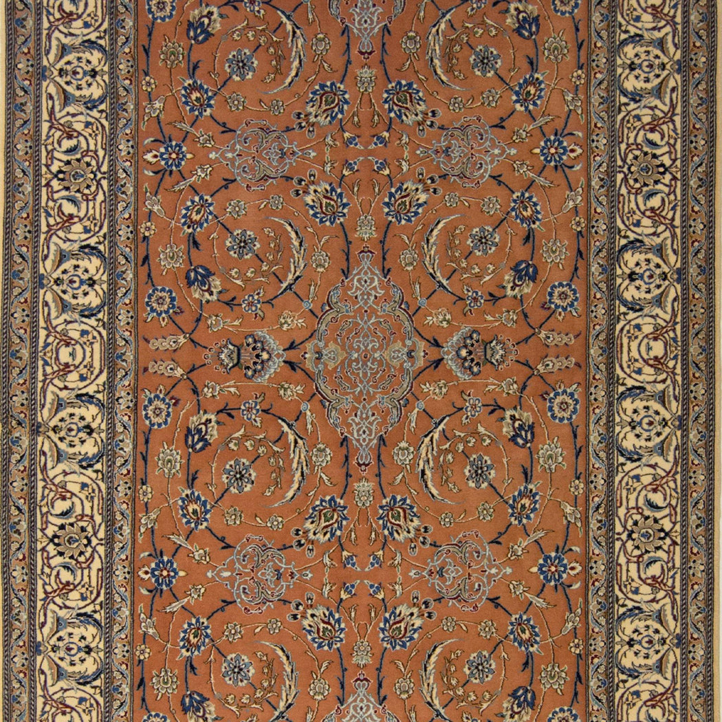Authentic Fine Hand-knotted Persian Wool & Silk Nain Rug 130cm x 187cm - House Of Haghi