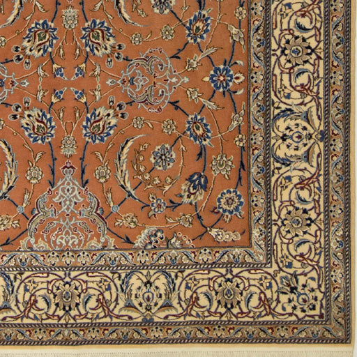 Authentic Fine Hand-knotted Persian Wool & Silk Nain Rug - House Of Haghi