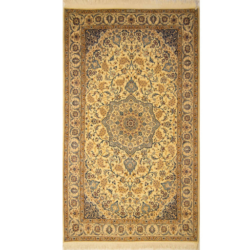 1.5 x 2.5 Meter_Persian_Nain - Super Fine_handknotted_Rug