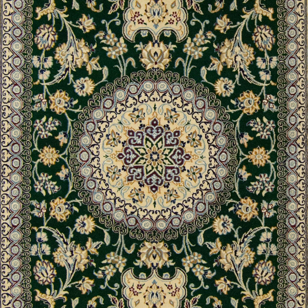 Authentic Fine Hand-knotted Persian Habibian Nain Wool & Silk Rug (SIGNED) - House Of Haghi