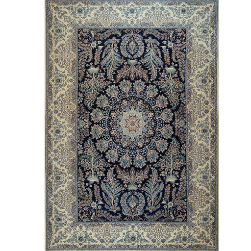 Genuine Fine Hand-knotted Persian Wool & Silk Nain Rug - House Of Haghi
