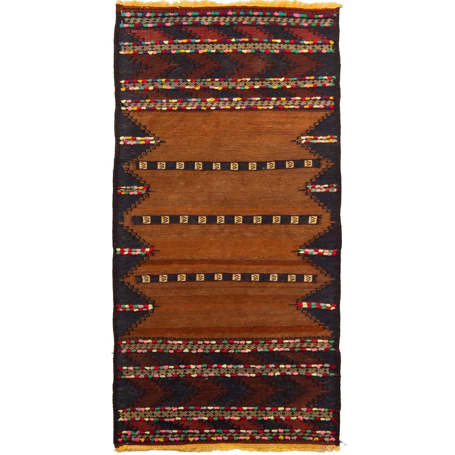 Fine Hand-woven 100% Wool Kilim 72cm x  142cm Persian-Rug | House-of-Haghi | NewMarket | Auckland | NZ | Handmade Persian Rugs | Hand Knotted Persian Rugs
