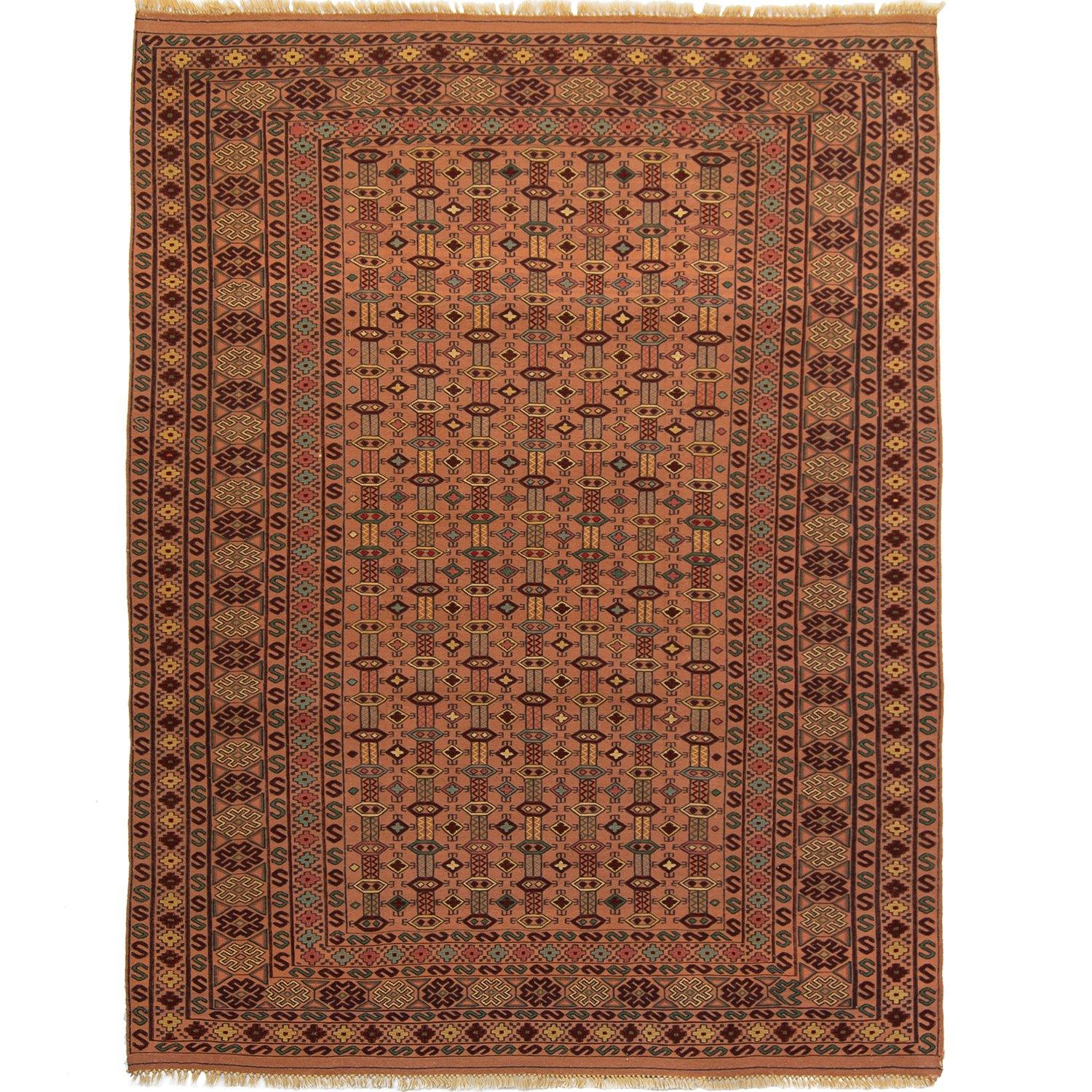 Fine Hand-woven 100% Wool Kilim Rug 140cm x  220cm Persian-Rug | House-of-Haghi | NewMarket | Auckland | NZ | Handmade Persian Rugs | Hand Knotted Persian Rugs