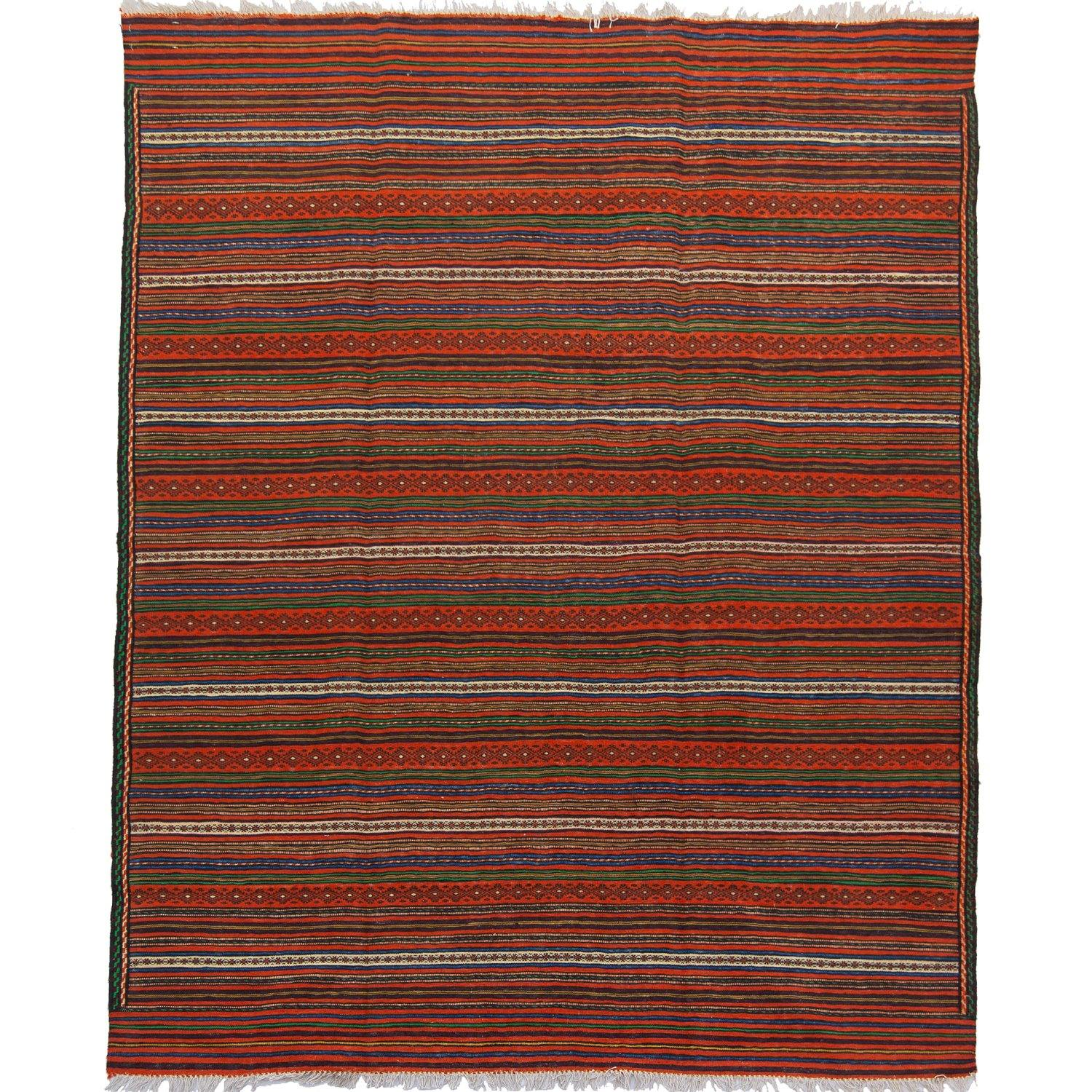 Fine Hand-woven 100% Wool Kilim Rug 153cm x  236cm Persian-Rug | House-of-Haghi | NewMarket | Auckland | NZ | Handmade Persian Rugs | Hand Knotted Persian Rugs